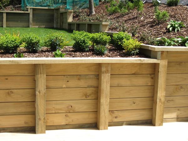 Timber Retaining Walls